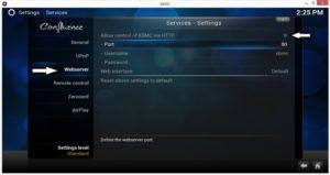 xbmc control via remote