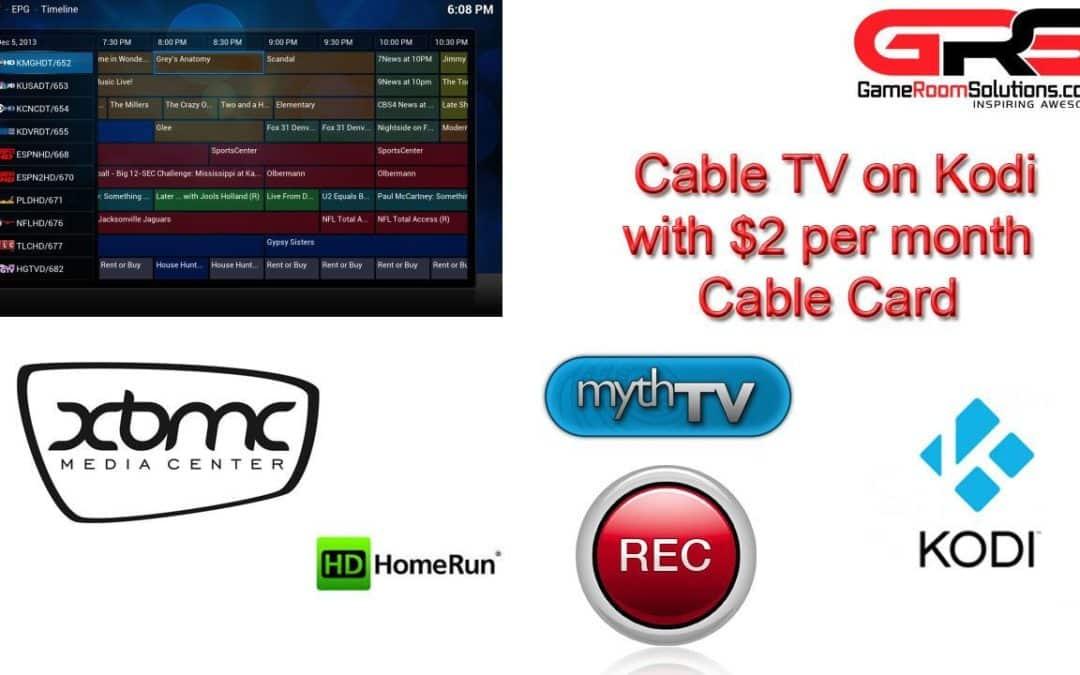 XBMC Kodi Live TV HDHOMERUN Prime MythTV Cox Cable Card Setup