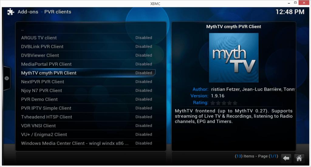 How to Setup Live TV on Kodi, HDHOMERUN Prime MythTV