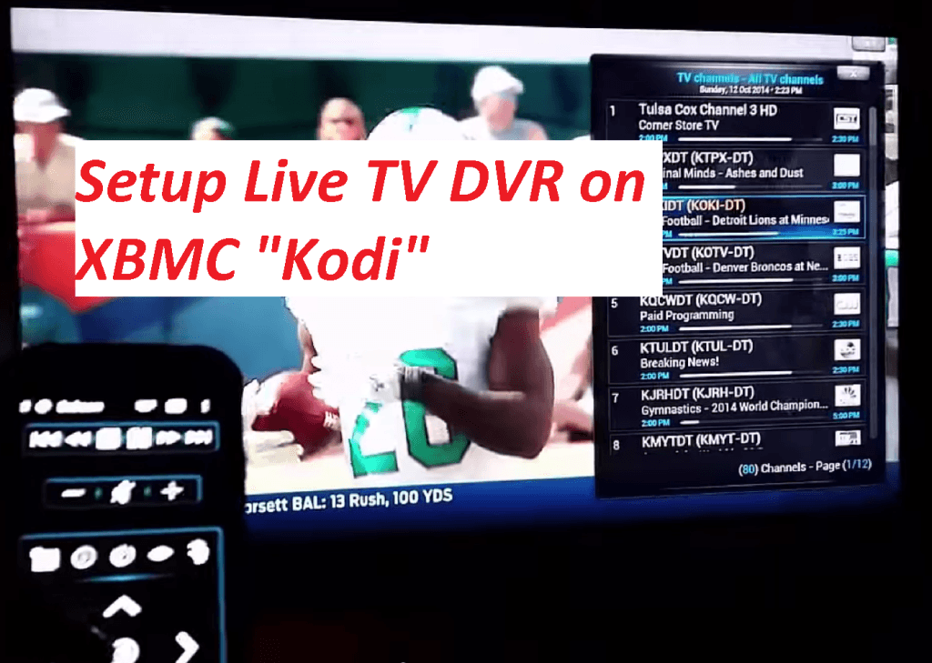 How To Setup Live Tv On Kodi Hdhomerun Prime Mythtv