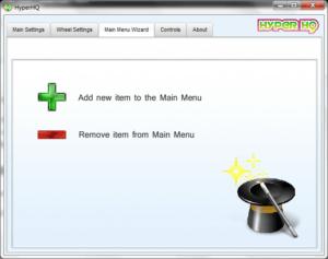 hyperhq add menu