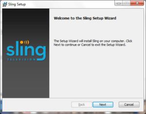 sling tv windows install 1