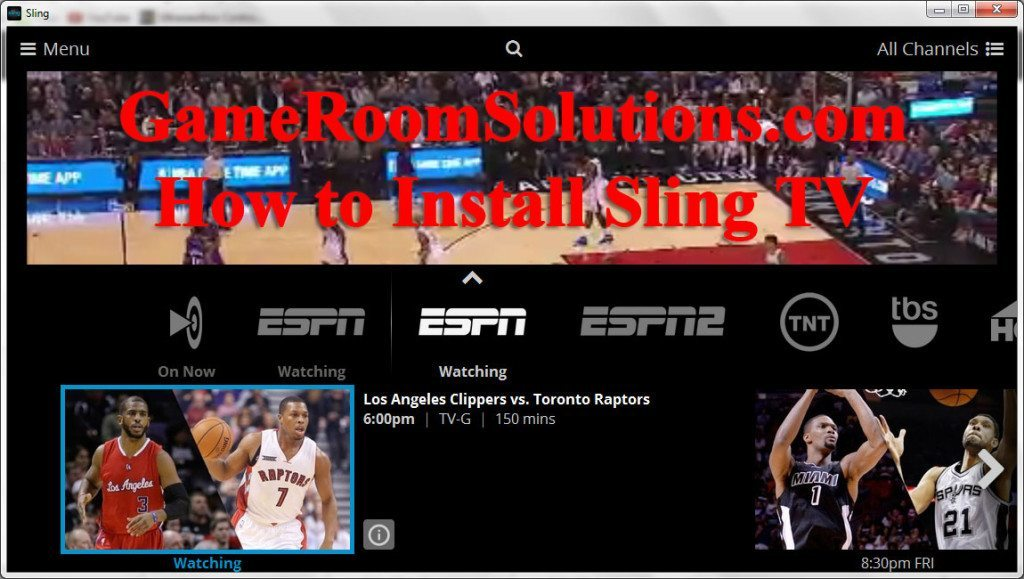 Install Sling TV to Get Cable Channels Over The Internet