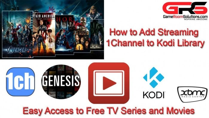 Free TV and Movies with 1Channel XBMC Kodi Library Integration
