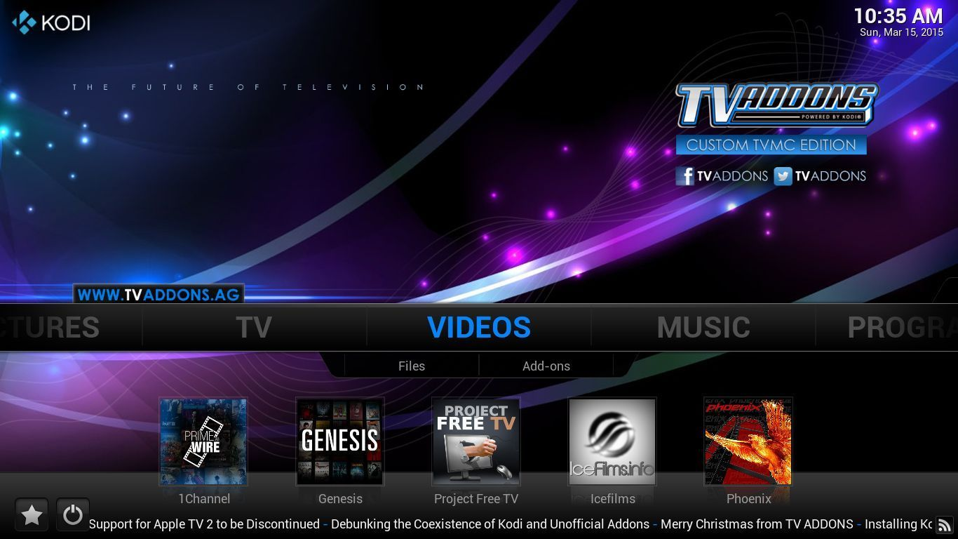 Store / Home Theater / AMAZON FIRE TV Stick XBMC KODI 15.1 JAILBROKEN  #6E24A7 1366 768