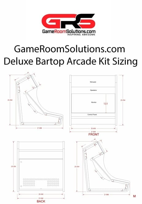 Bartop Arcade Kit Deluxe Game Room Solutions