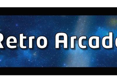 retro arcade blue