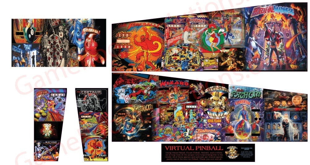 Mini Virtual Pinball Cabinet Graphics