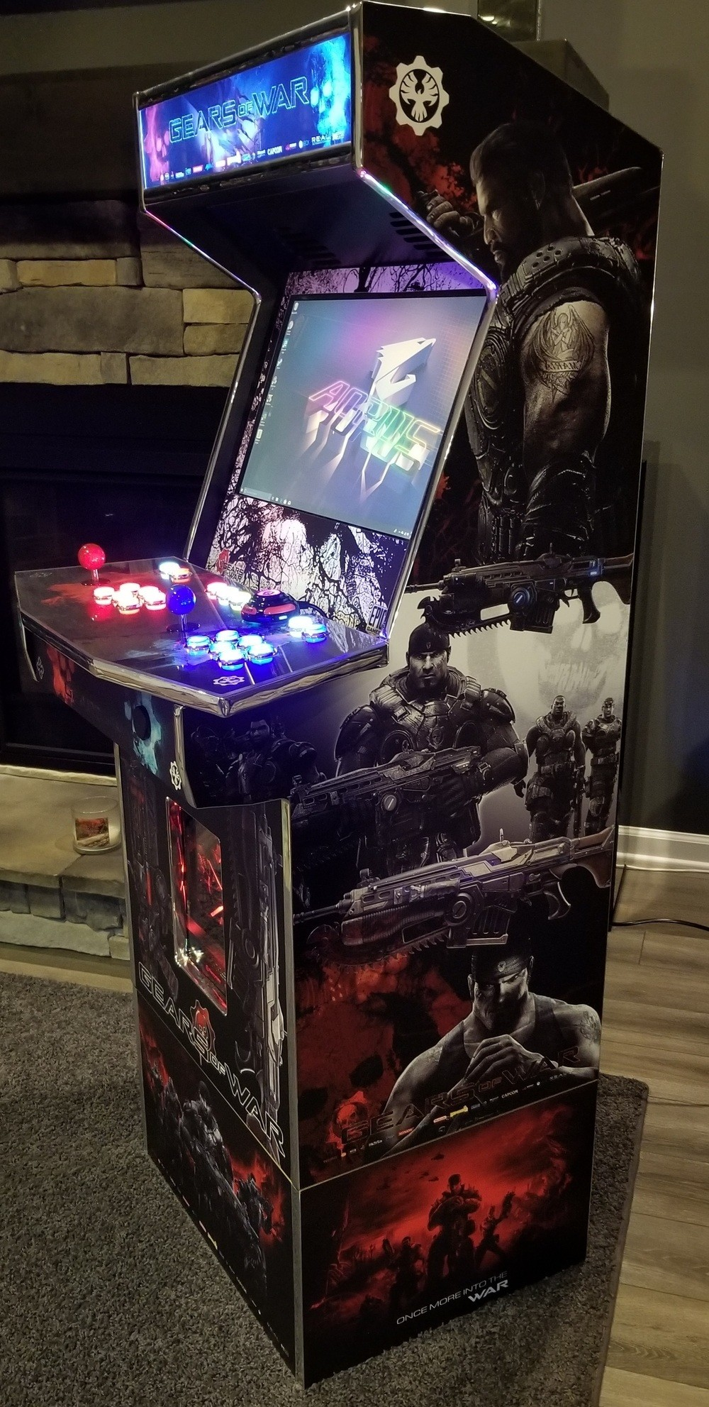 Level Up 3 4 Size Arcade Cabinet Kit For 22 Monitor