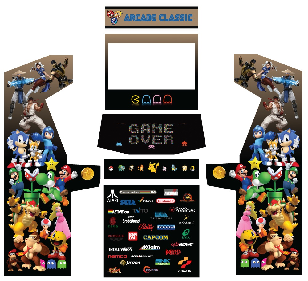 32 Arcade Graphics - Game Room Solutions
