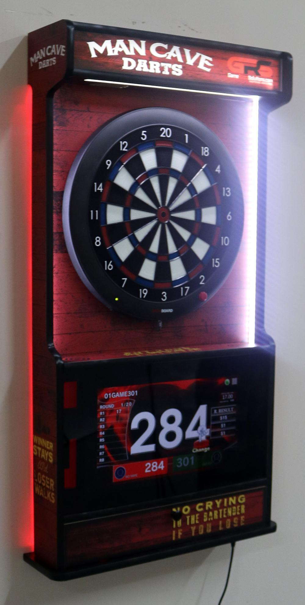 Wall Mounted Dartboard And Jukebox Easy Assembly Fast Shipping