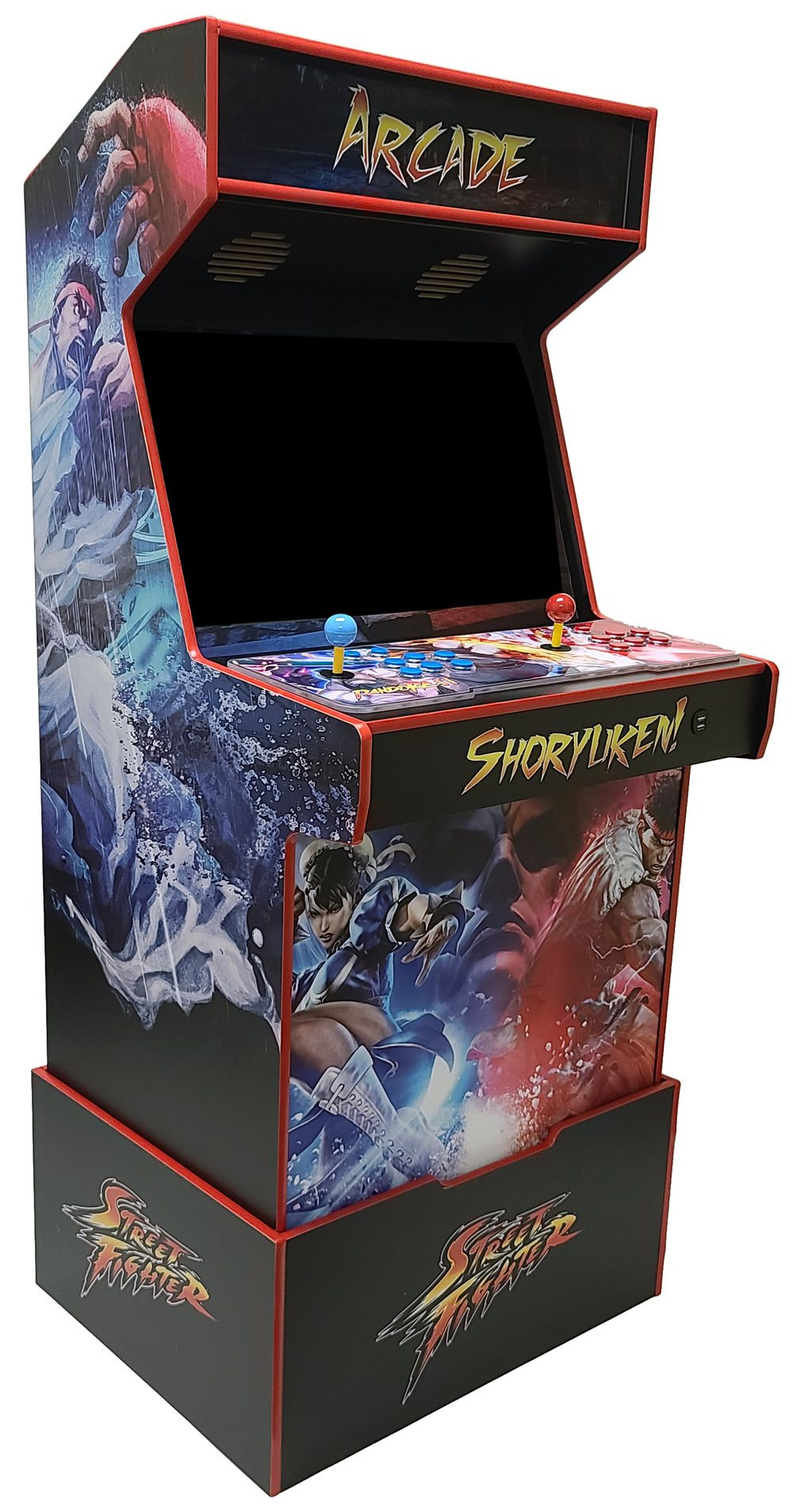 Mid-Size Arcade Cabinet with Riser - Pandora Supported